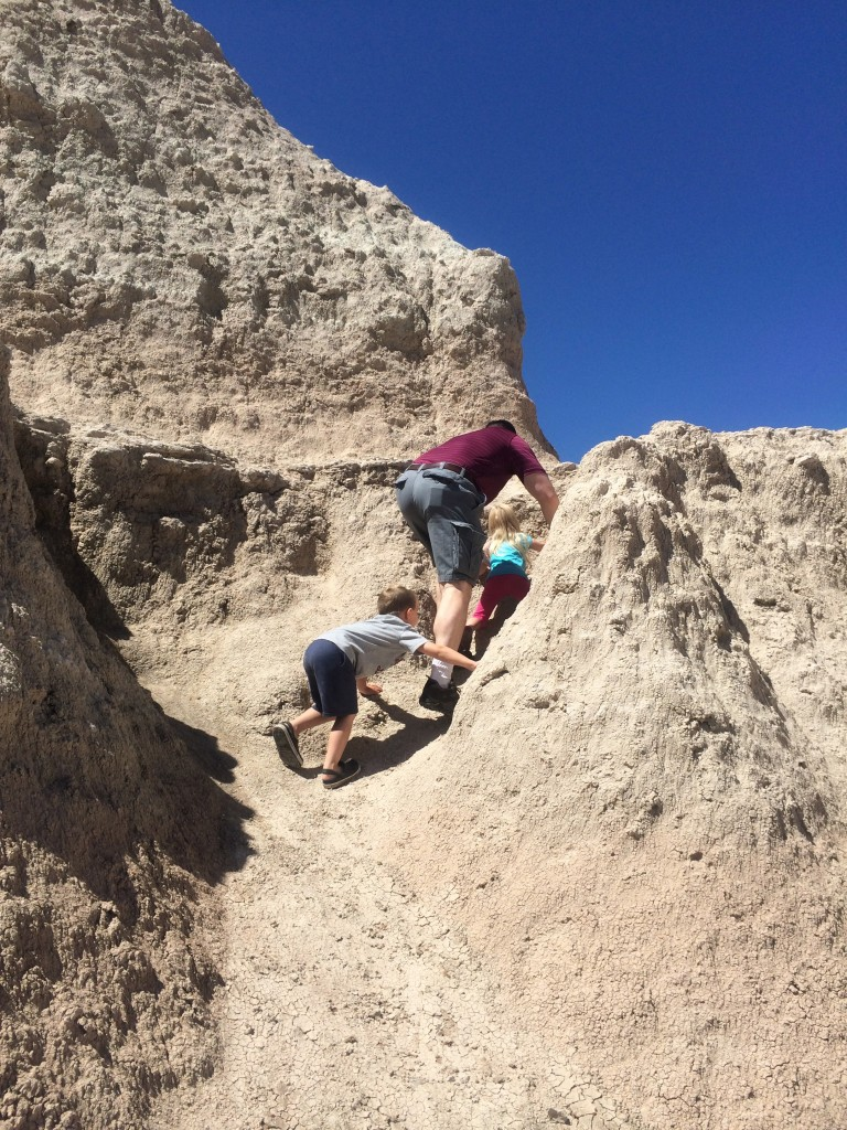 Climbing in the Badlands
