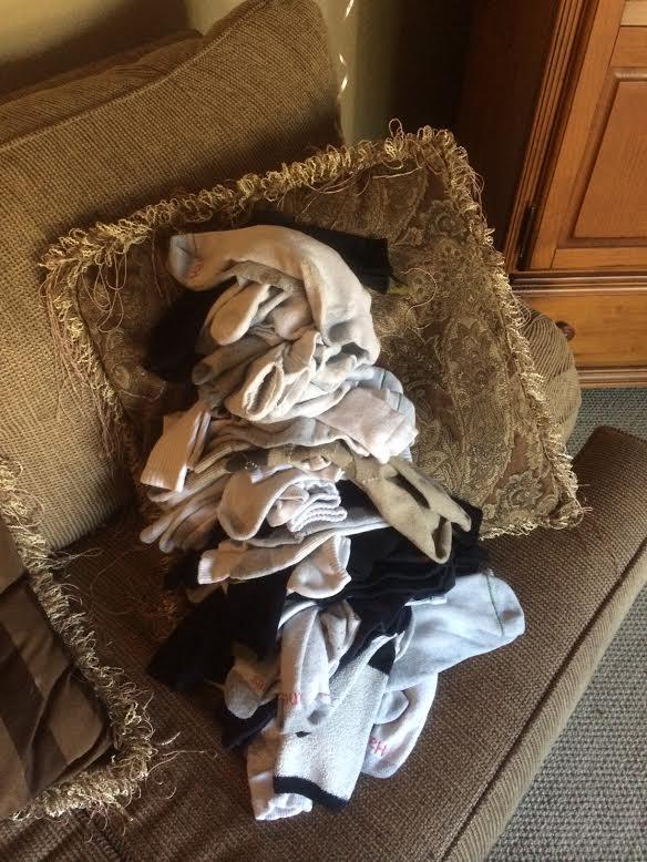 socks pile